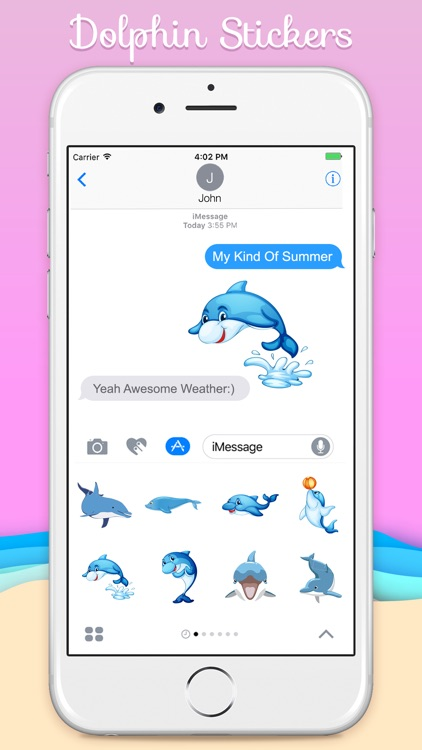 Ocean Dolphin Stickers screenshot-3