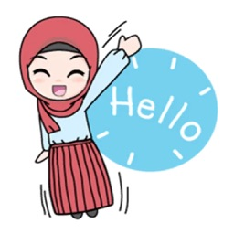 Cute Hijab Stickers Pack