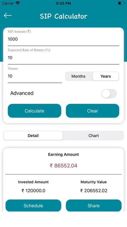 SIP Calculator : Mutual Fund