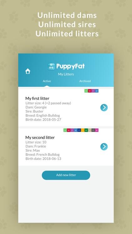 PuppyFat - Breeder Software screenshot-4