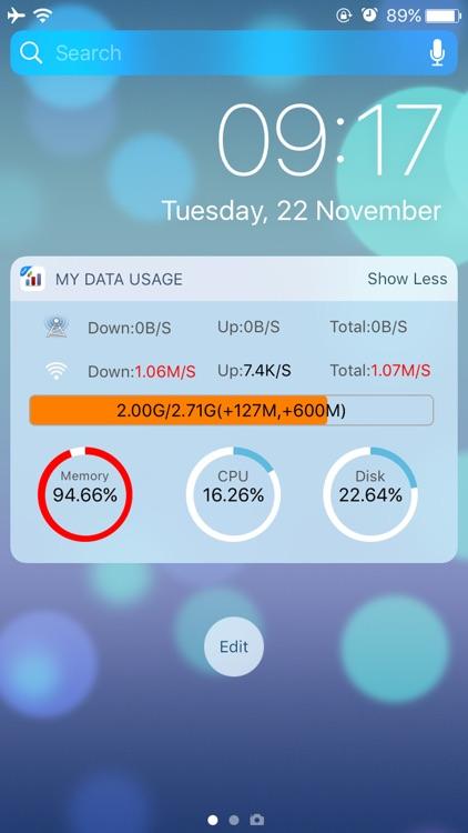 My Data Usage- Cellular Widget