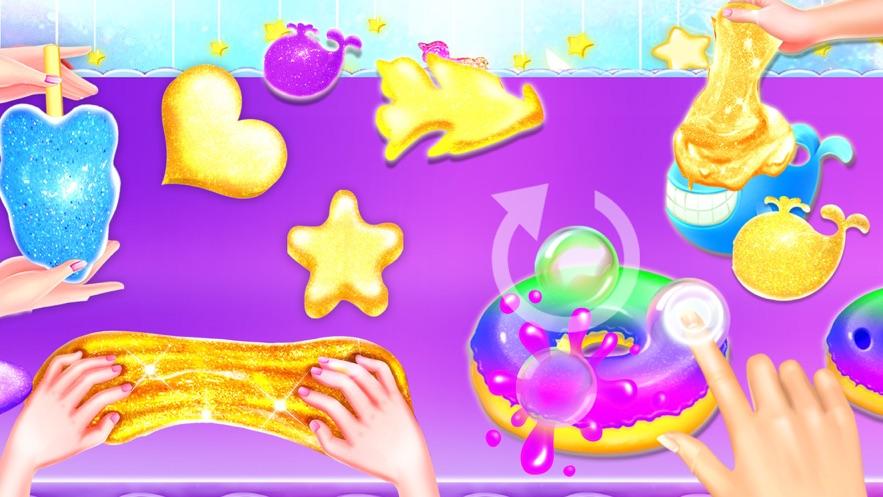 Glitter DIY Slime Maker Games App 截图