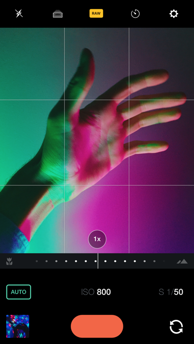 Manual – RAW Camera Screenshots