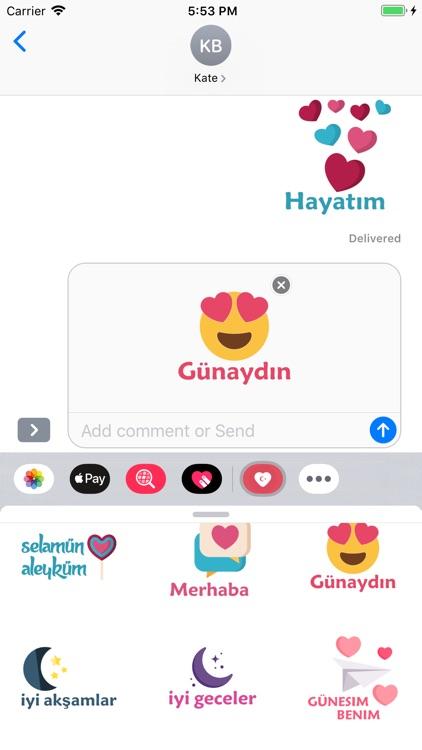Turkish Love Stickers screenshot-4
