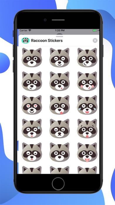 Raccoon Cartoon Stickers screenshot 1