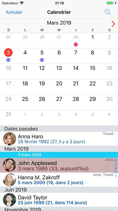 Screenshot for BirthdaysPro in Lebanon App Store
