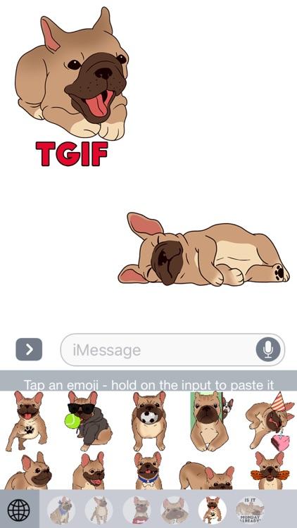 French Bulldog Emojis Star screenshot-3