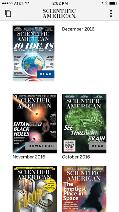 Scientific American Screenshot