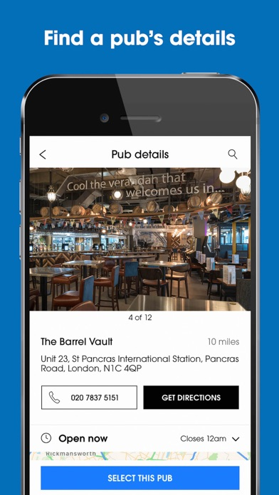 Screenshot for Wetherspoon in United States App Store