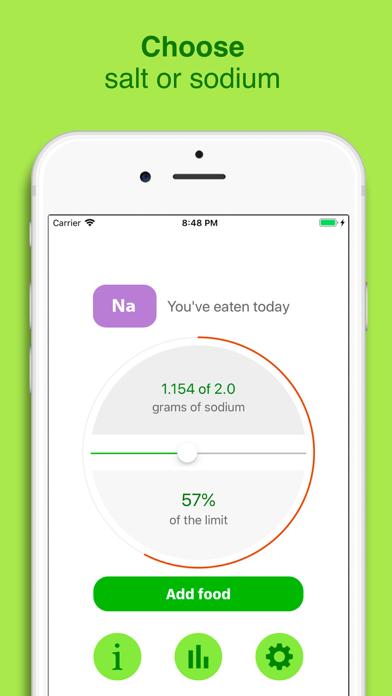 Smart salt - Sodium tracker Screenshot