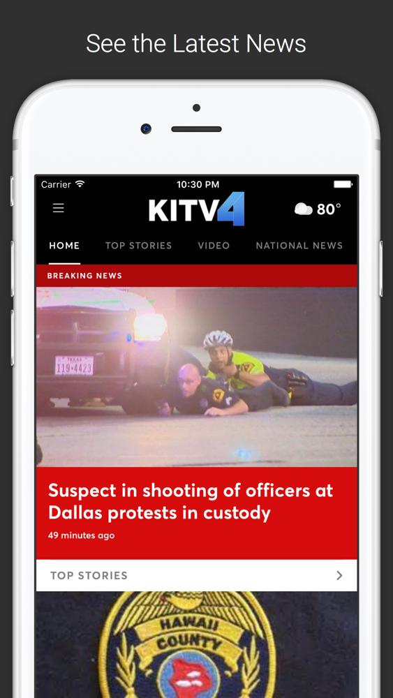 KITV 4 Breaking News & Weather App for iPhone - Free Download KITV 4