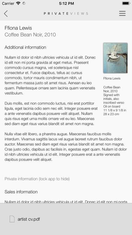 Artlogic PrivateViews screenshot-5