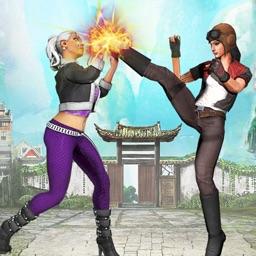 Girls Kungfu Street Fight