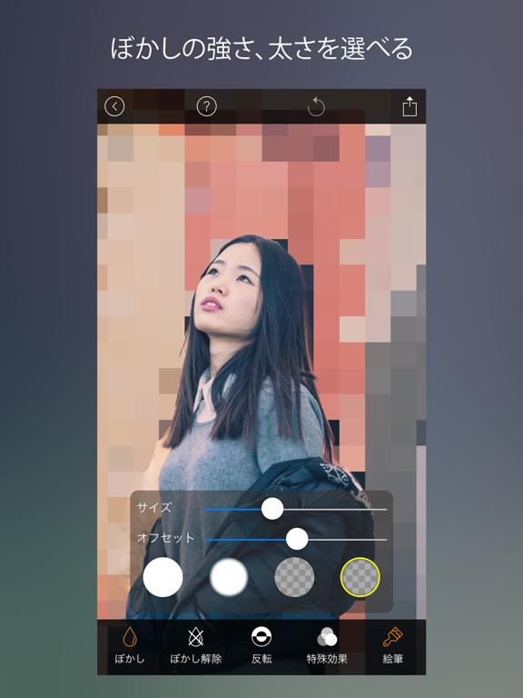 ぼかし写真処理およびモザイクフィルタのおすすめ画像3