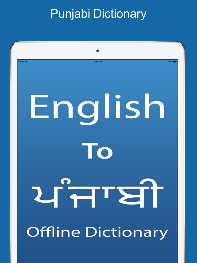 Punjabi Dictionary &Translator on the App Store