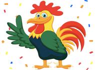 Yellow Chicken Sticker