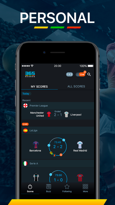 Screenshot for 365Scores - Live Scores in Sweden App Store