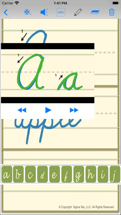 cursive screenshot-5