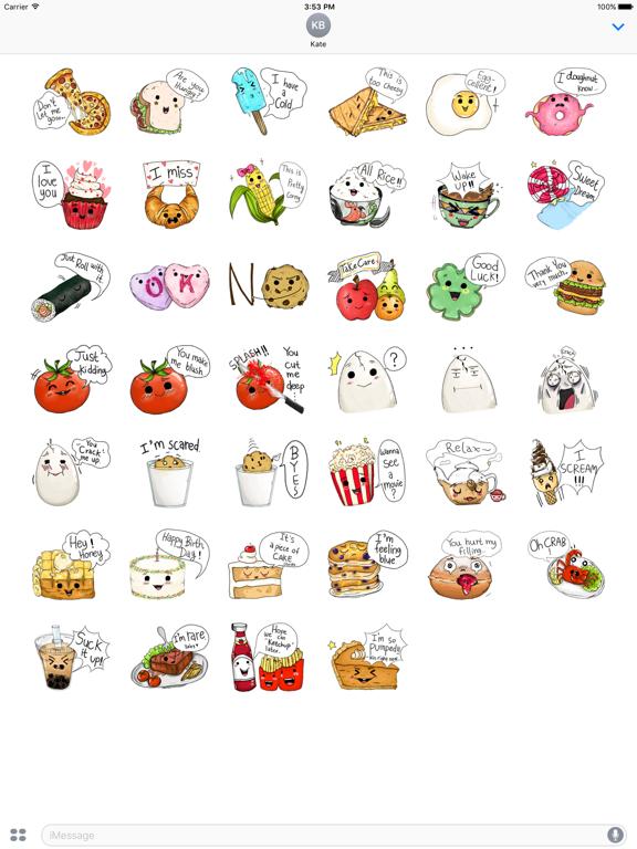 Adorable friends Food Emoji screenshot 6