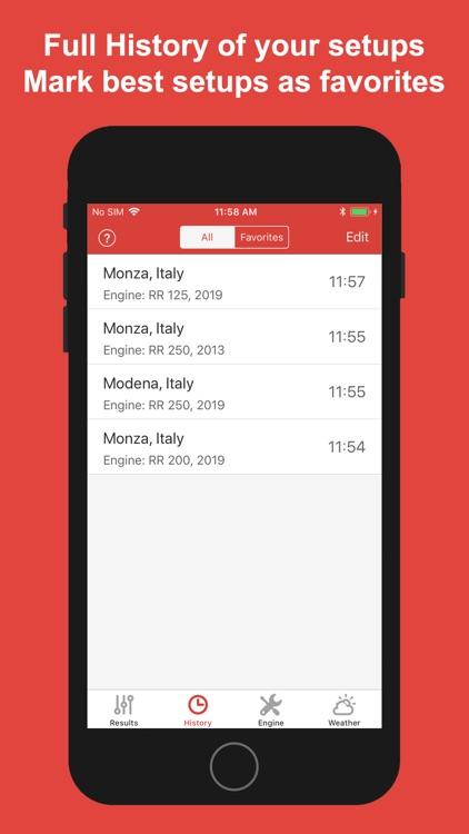 Jetting for Beta 2T Moto screenshot-5