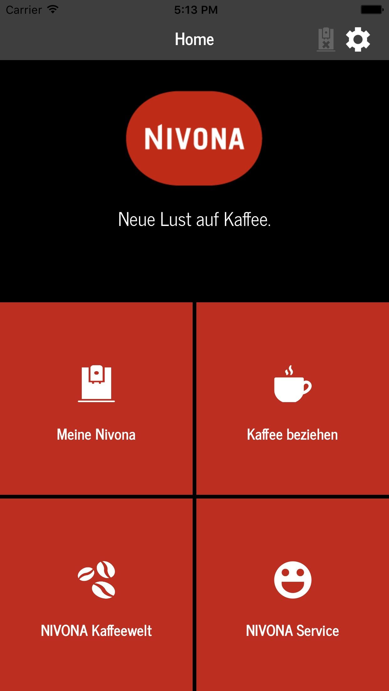 Nivona App Screenshot