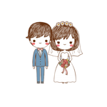 Happiness Couple Stickers