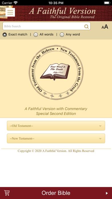 A Faithful Version BibleScreenshot of 1