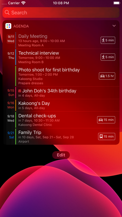 Agenda: Widget+ Screenshots