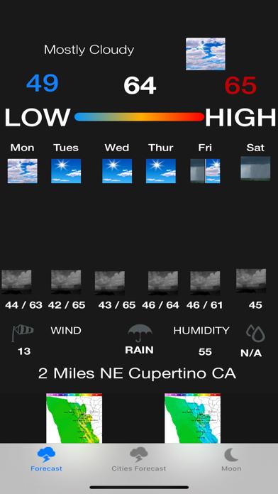 Instant NOAA Weather Forecast screenshot 1