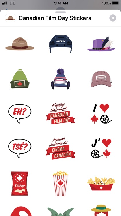 Canadian Film Day Stickers