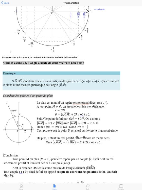 Maths Première S screenshot 13