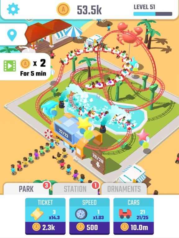 Idle Roller Coaster для iPad