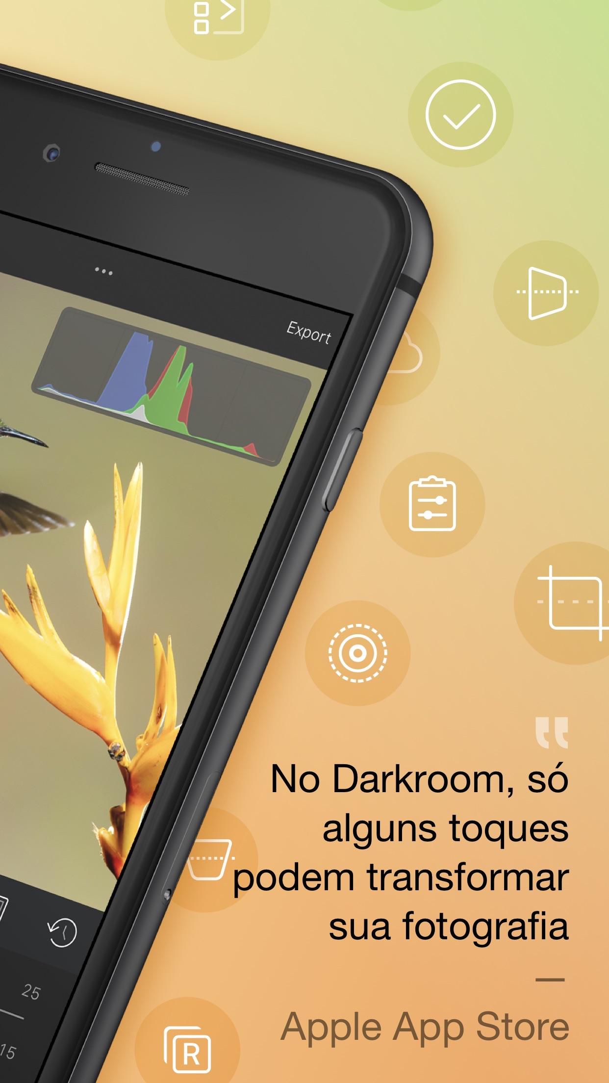 Screenshot do app Darkroom – Photo Editor