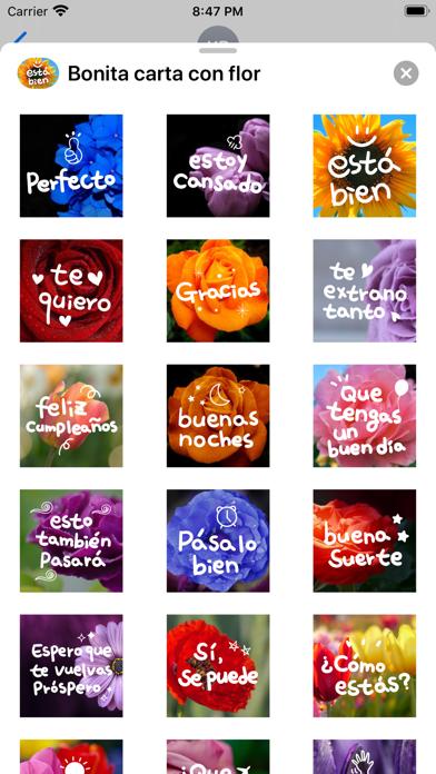 Bonita carta con flor screenshot 3
