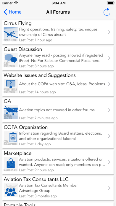 Copa Mobile Forum Reader review screenshots