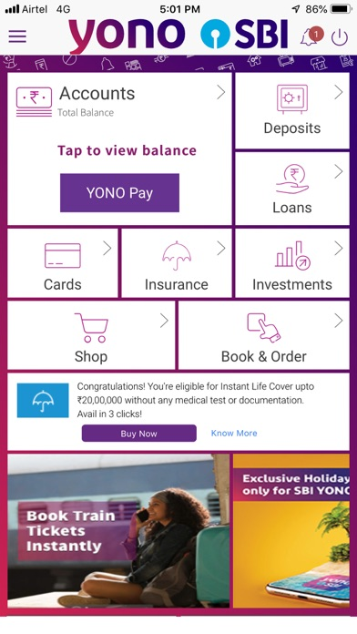 YONO SBI:Banking and Lifestyle screenshot two