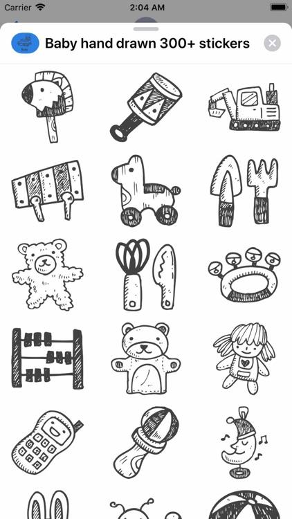 Baby hand drawn 300+ stickers screenshot-5