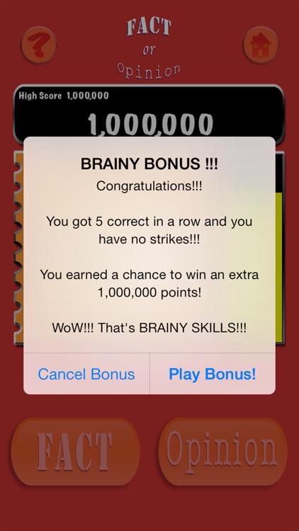 Brainy Skills Fact or Opinion screenshot-6