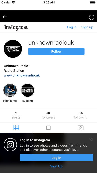 Screenshot for Unknown Radio in United States App Store