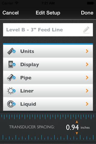 Screenshot of Orcas Flowmeter