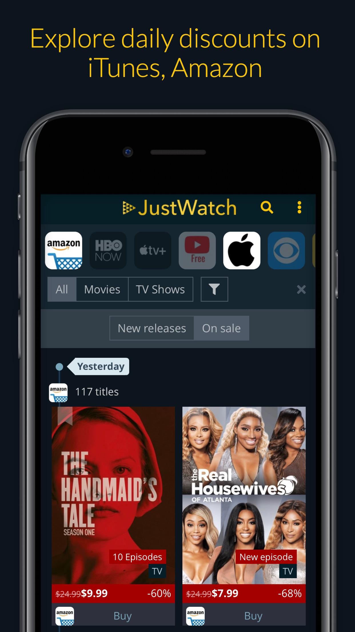 JustWatch - Películas y Series Screenshot