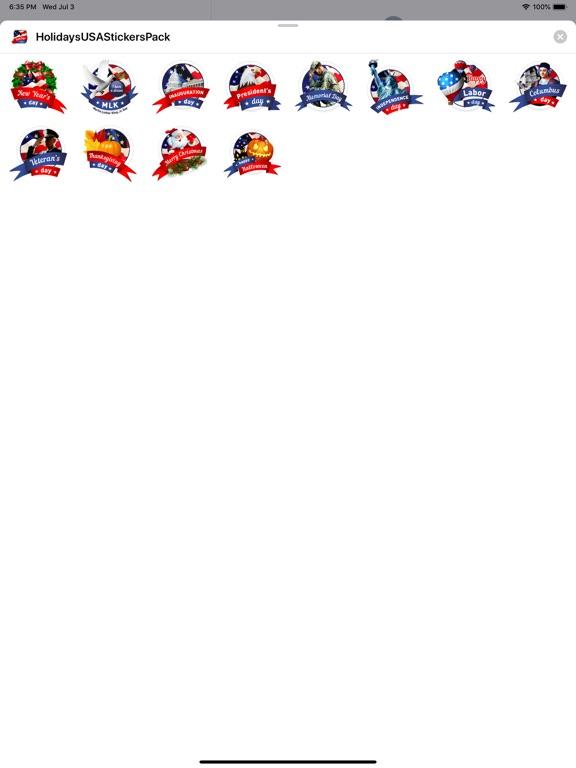 Holidays USA StickerPack screenshot 3