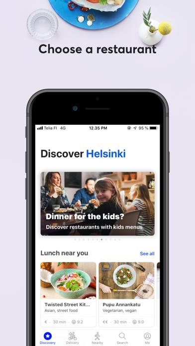 Screenshot for Wolt: Food delivery & takeaway in Czech Republic App Store