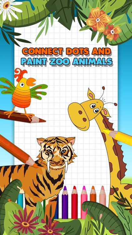 Zoo Animals Coloring Book Game