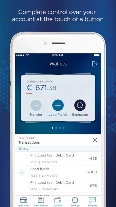 Vault E-Money screenshot two