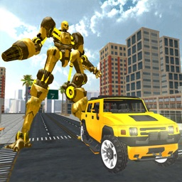 Hummer Car Robot Fighting Game