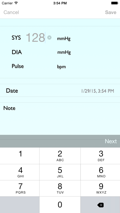 BP Recorder T. screenshot two