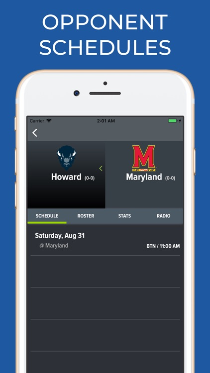Maryland Football Schedules screenshot-6