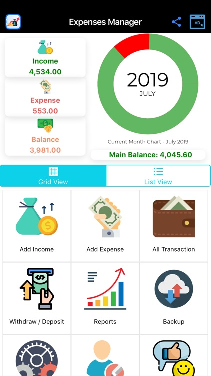 Expense Manager, Money Manager