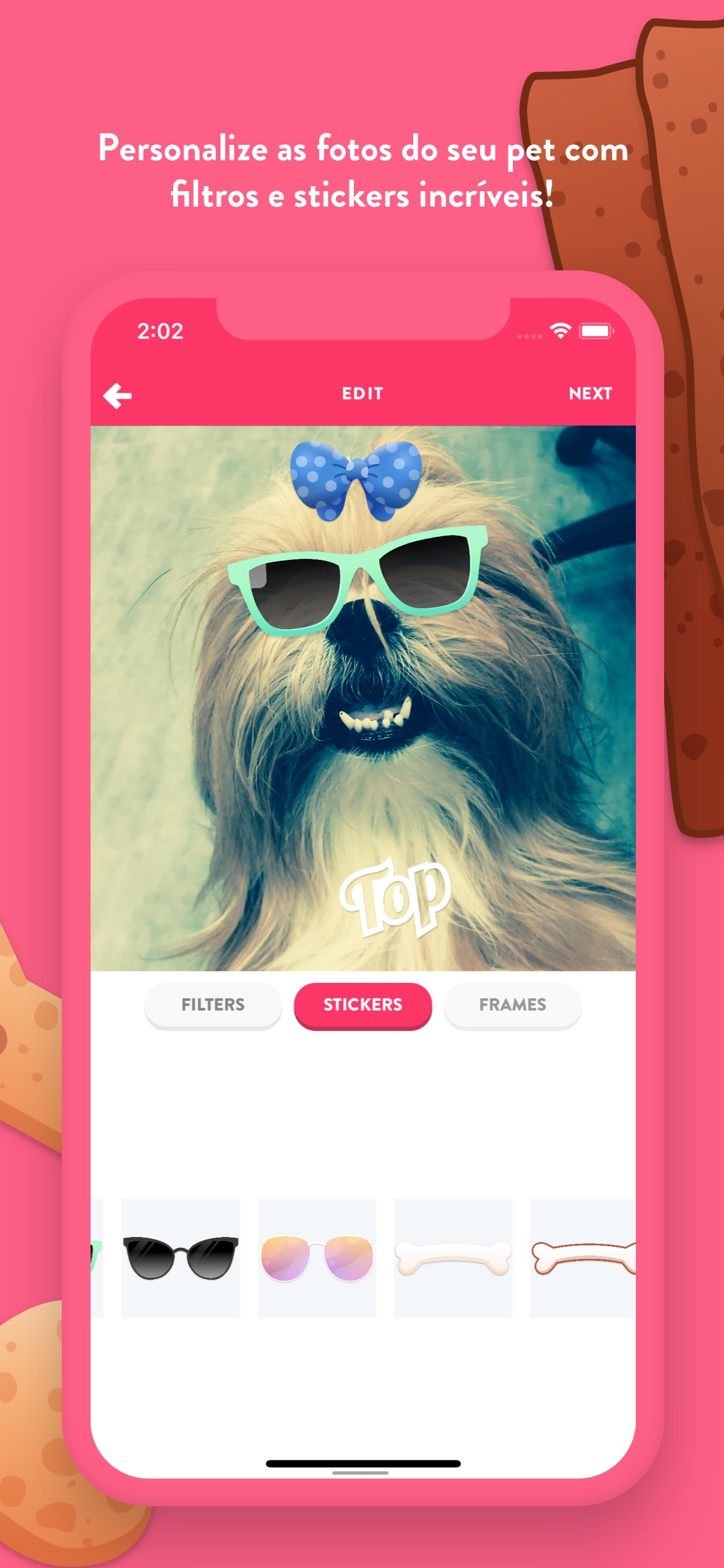 Screenshot do app Flockr